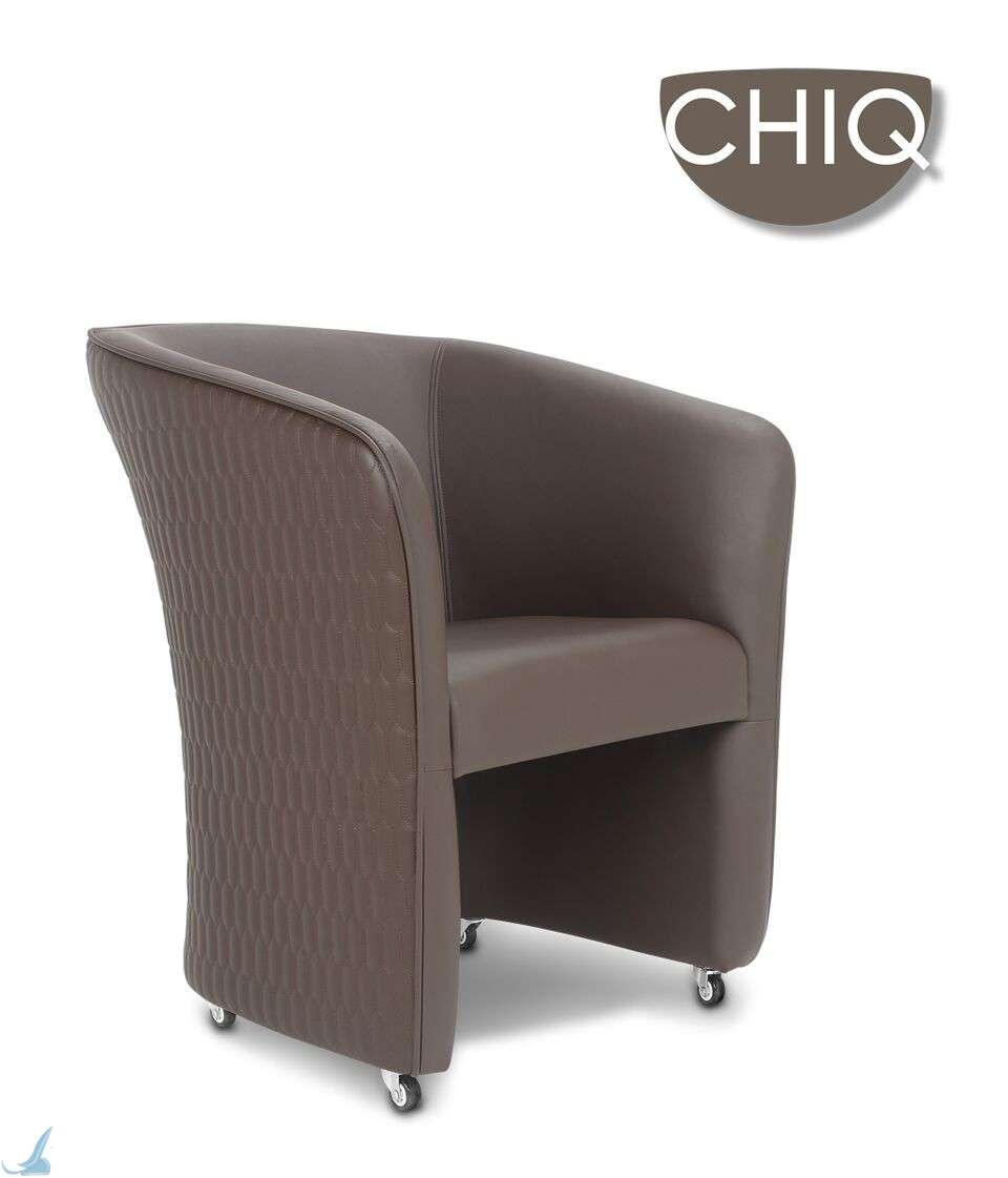 Chiq quilt customer chair truffle for Nail salon benches