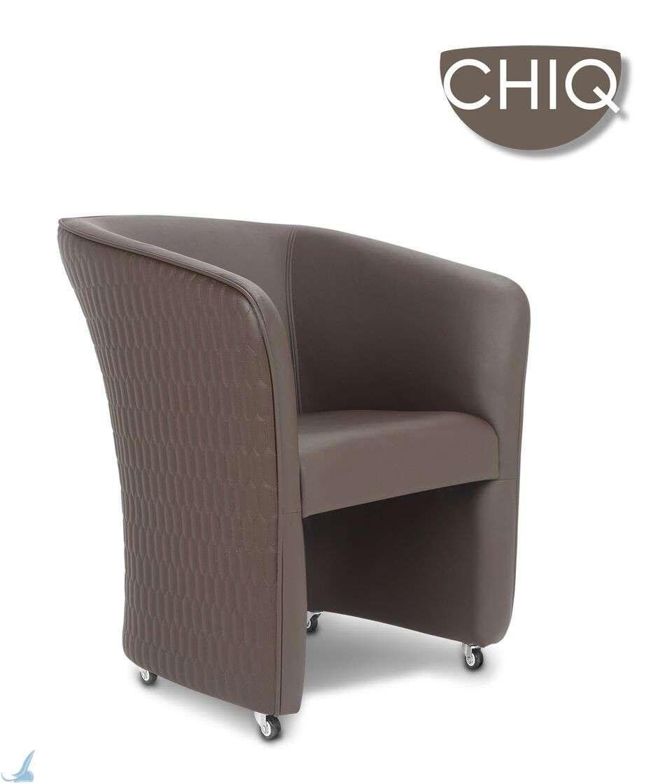 Chiq Quilt Customer Chair Truffle