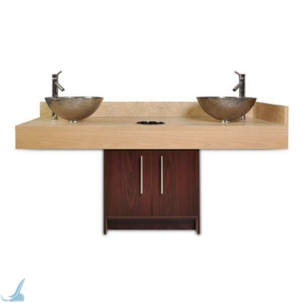 Contemporary Double Sink Cabinet Sink Nail Salon Furniture