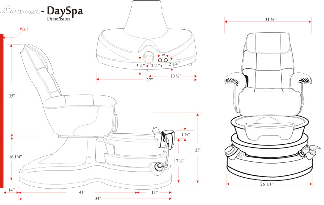 Lenox Day Spa Pedicure Chair