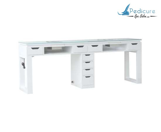 Valentino Lux Double Nail Table White